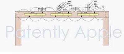 苹果专卖店展示桌专利示意图
