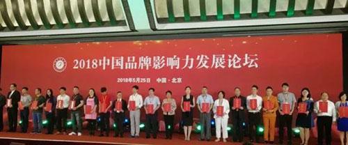 裕阳董事长(右八)出席峰会并上台领奖